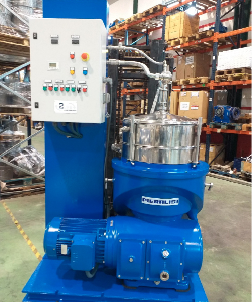 Centrifugadora vertical P-6000  de aceite de oliva